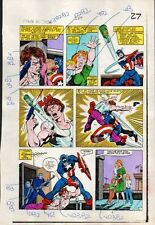 Sal Buscema 1983 Captain America 284 page 27 Marvel comic color guide art:1980's