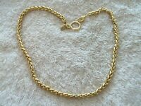"Signed ""JNY"" Jones Of New York, Necklace, Gold Tone Metal Links"