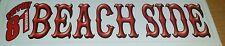 HELLS ANGELS SUPPORT 81 BEACH SIDE BUMPER STICKER WHITE
