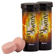 Atomic Tabs Chewable Energy and Preworkout, Berry - 6 Serving Container, 2 PACK