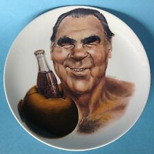 Porcelain Plate Advertising Wall Plate BOXER MAX SCHMELING Coca Cola ø26cm Self ~ 70