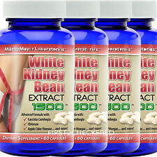 4X White Kidney Bean Extract w/ Garcinia Cambogia 1500mg Weight Loss Fat Burner