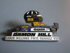 Damon Hill Canon Williams Renault Formula One Open Wheel Racing Hat Pin