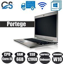 """TOSHIBA Portege Z930-12G 13.3"""" LAPTOP INTEL CORE i5 6GB RAM 128GB SSD W10 Pro"""