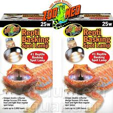 Repti Basking Spot 25 W Watt Reptile Terrarium Light 2 Bulbs 25w Zoo Med