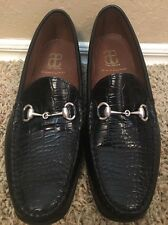 Allen Edmonds Grand Cayman Croc Embossed Horse Bit loafers, size 11E 11 E Wide