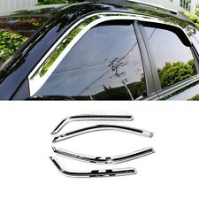Chrome Window Sun Vent Visor Rain Guards 4P A430 For KIA 2005-2010 Sportage Amex
