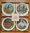4+Franklin+McMahon+Chicago+Limited+Edition+Collector+Plates+2-1976+%26+2-1977