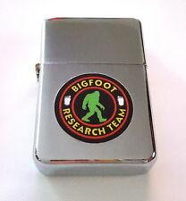 Sasquatch Yeti Bigfoot Research Team Silver Metal Flip Top Lighter
