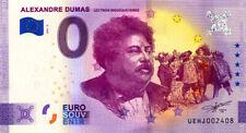 37 DESCARTES Alexandre Dumas, 2021, Anniversaire, Billet Euro Souvenir