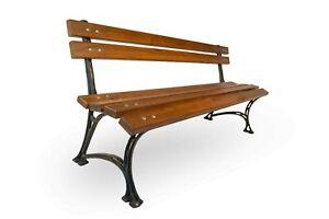 Garden / Park bench without armrest Solid Adler wood Cast Iron 160cm