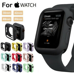 For Apple Watch Series 4 3 2 Bumper Silicone Protector Case Cover 38/40/42/44mm