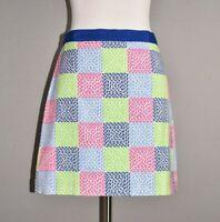 VINEYARD VINES $78 Multi-Color Patchwork Mini Skirt Size 0