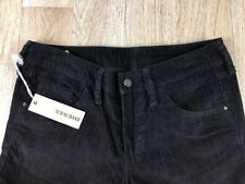 New Diesel Womens Size 28 Black Corduroy Wide Leg Flare Trouser Mid Rise Casual