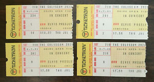 FOUR - Authentic 1975 Elvis Presley concert ticket stubs and COAs FREE SHIPPING