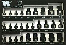 Welzh Werkzeug 28-Piece Master Bit Socket Set Impact Low Profile TORX HEX SPLINE
