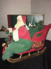 Classic Collectibles Santa On Sleigh In Box