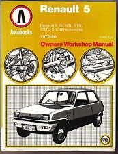 Renault 5, L TL TS GTL 1300 Automatic 1972-1980 Workshop Manual Autobook No 739