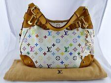 Louis Vuitton Greta Monogram Multicolor Blanc Large Bag Tote Shoulder Handbag