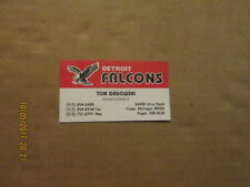 COHL Detroit Falcons Rare Defunct Tom Gadowski Marketing Director Business Card