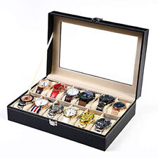 12 grid watch box PU watch display box gift table storage box watch box