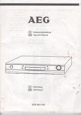 AEG - DVD 4611 HC - Bedienungsanleitung Operating Manual - B3773