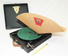 RARE VINTAGE POLLY PORTABLE PHONOGRAPH GRAMOPHONE 78 RPM SMALL RECORD PLAYER