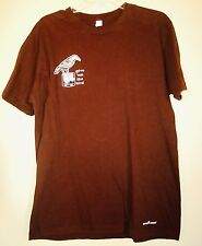 Old Crow Reserve Give 'em The Bird Graphic T-Shirt - Dark Brown - size Large