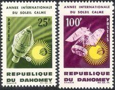 Dahomey 1964 IQSY/Space/Rockets/Quiet Sun/Satellites/Astronomy 2v set (n24238)