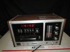 Hanimex Multiplex Am/Fm Stereo Alarm Clock & 8 Track - Missing Knobs Sold As-Is