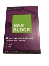 H&R Block Tax Software Deluxe+State 2019 Homeowners/Investors DIGITAL DOWNLOAD!!