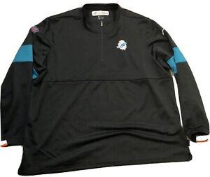 NFL Miami Dolphins Nike Dri-Fit 1/4 Zip Jacket Team Issued Onfield Apparel 2XL