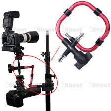 Kamerahalterung Blitzschiene für Lampenstativ Blitzstativ Stativ Kugelkopf 3-5kg