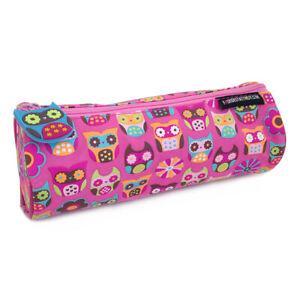 Pencil Cases for Girls Kids Children Owl Pink School Pencil Case Pouch