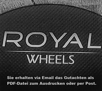 Gutachten für Royal Wheels Cohan GT Race Speed Turbo 17 18 19 20 Zoll Felgen
