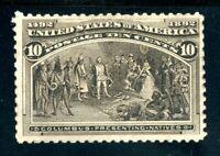 USAstamps Unused FVF US 1893 Columbian Presenting Natives Scott 237 OG MNH