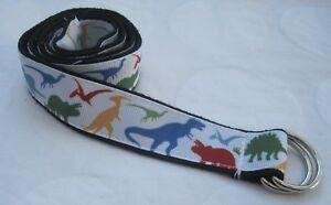 Dinosaur Childrens belt handmade adjustable kids d ring theropods t rex