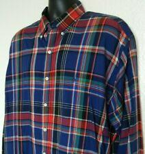 Polo Ralph Lauren Men's XL Shirt L/S Blake Cotton Plaid EUC