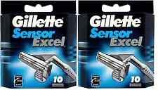 Gillette Sensor Excel Hojas De Afeitar - 20 Cartuchos