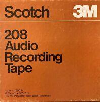 "Scotch 208 Low Print Mastering Reel Tape, SP, 7"" Reel, 1200 ft, Refurbished"