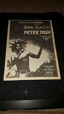 Peter Tosh Bush Doctor Rare Original UK Promo Poster Ad Framed!