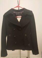 GUESS Womens Black Contemporary Peacoat Wool Waist Length Jacket Coat SMALL $158