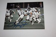 OAKLAND RAIDERS MARK VAN EEGHEN #30 SIGNED 8X10 PHOTO SUPER BOWL XV POSE HANDOFF