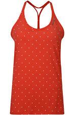 New Reebok Yoga Plus Long Bra Vest Top, Ladies Womens Gym Training Fitness - Red