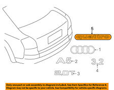 AUDI OEM A5 Quattro Liftgate Tailgate Hatch-Emblem Badge Nameplate 4G08537372ZZ