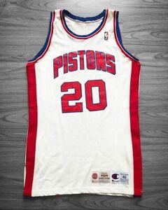 ALLAN HOUSTON Champion Authentic Game worn Procut Jersey Vintage Pistons RARE