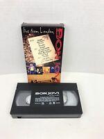 Bon Jovi - Live from London (VHS, 1995) Rare Concert