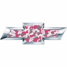 2 Silverado Pink Camo Universal Chevy Bowtie Vinyl Sheets Emblem Overlay