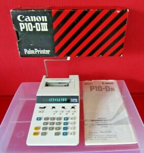 Canon Electronic Palm Printer Calculator Model P10-D III in Box & Instructions