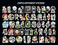 50 pcs Anime Hunter x Hunter Vinyl Stickers for Skateboard/Laptop/Book/Luggage